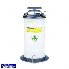 Aspiratore liquidi manuale e pneumatico 9,5 lt