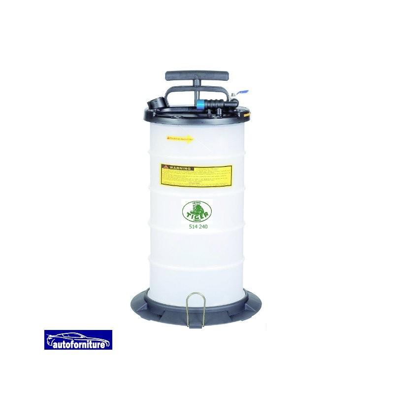 Aspiratore liquidi manuale e pneumatico serbatoio 9,5 lt