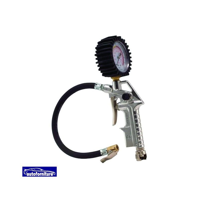 Pistola di gonfiaggio con manometro