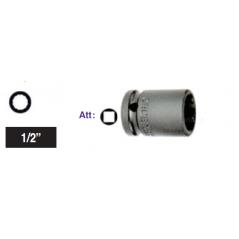 """Chiave a bussola poligonale Impact attacco 1/2"""" mm 18 corta"""