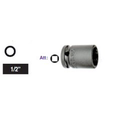 """Chiave a bussola poligonale Impact attacco 1/2"""" mm 27 corta"""