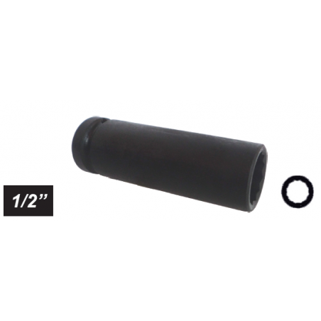 "Chiave a bussola poligonale Impact attacco 1/2"" mm 32 lunga"