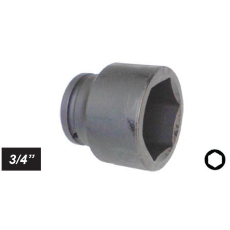 "Chiave a bussola esagonale Impact attacco 3/4"" mm 20 corta"