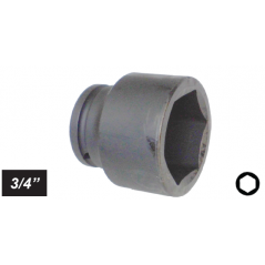 "Chiave a bussola esagonale Impact attacco 3/4"" mm 33 corta"