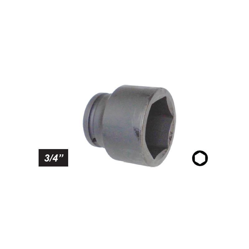 "Chiave a bussola poligonale Impact attacco 1/2"" mm 36 lunga"