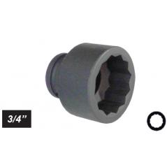 """Chiave a bussola poligonale Impact attacco 3/4"""" mm 24 corta"""