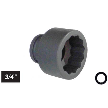 """Chiave a bussola poligonale Impact attacco 3/4"""" mm 32 corta"""
