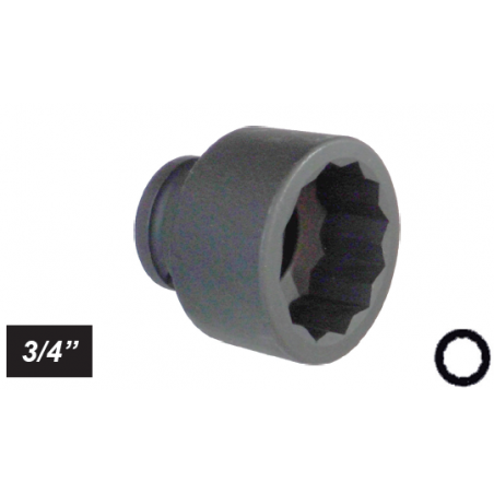 """Chiave a bussola poligonale Impact attacco 3/4"""" mm 33 corta"""