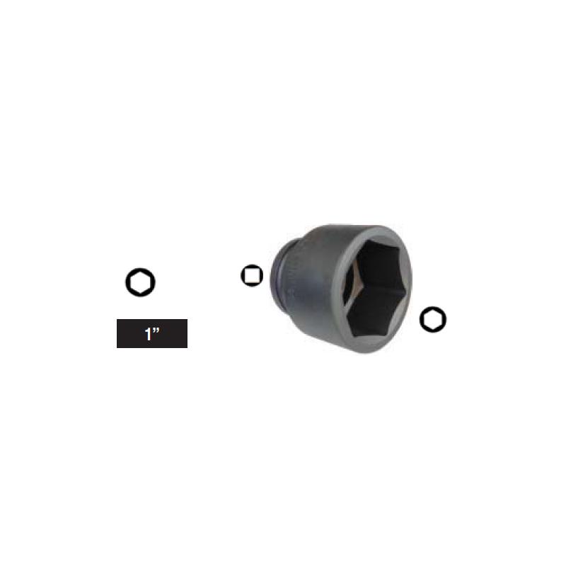 "Chiave a bussola esagonale Impact attacco 3/4"" mm 30 corta"