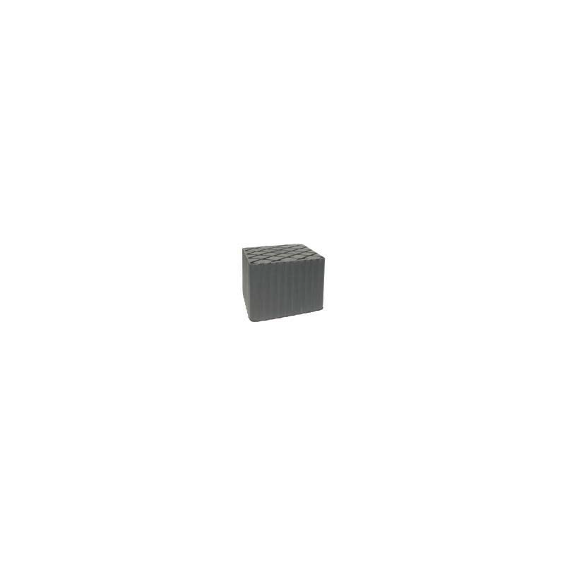 Tampone rettangolare in gomma per ponte di sollevamento a pantografo