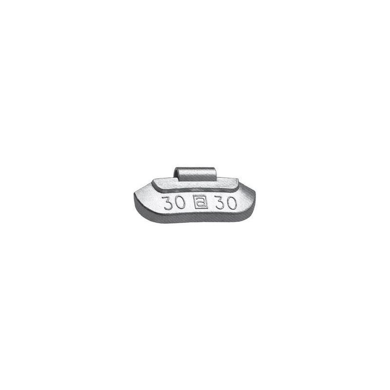Contrappesi in Zinco plasticati per equilibratura ruote in ferro vetture gr.5