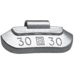 Contrappesi in Zinco plasticati per equilibratura ruote in ferro vetture gr.25