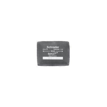 Pezza per riparazione pneumatici radiali (tubeless) marca Schrader Dimensione mm.90x75