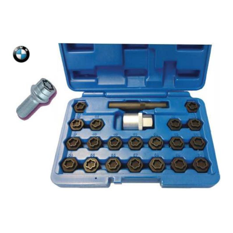 Set chiavi a bussola per dadi ruota antifurto ideale per BMW