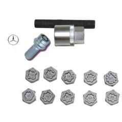 Set chiavi a bussola per dadi ruota antifurto ideale per Mercedes Benz