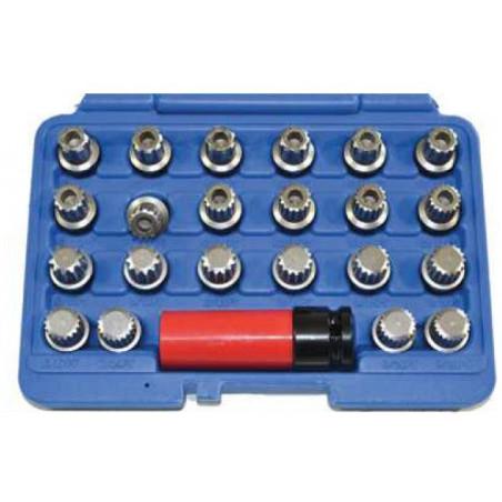 Set chiavi a bussola per dadi ruota antifurto ideale per VAG