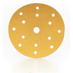 Dischi abrasivi carta velcrati diametro 150 mm a 15 fori P120 - linea SCS Gold Prodotto professionale