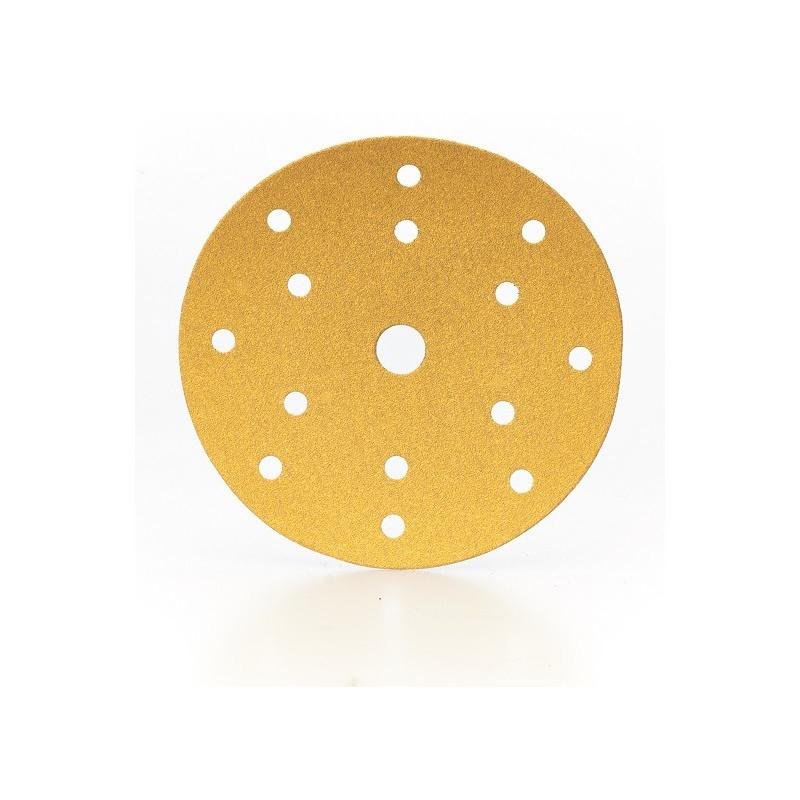 Dischi carta velcrati diametro 150 mm a 15 fori - linea SCS Gold Prodotto professionale