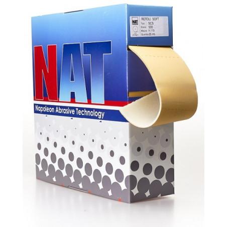 Rotoli in carta abrasiva flessibile accoppiata a spugna P500 - linea SCS Gold