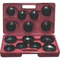 Set chiavi filtro olio a tazza 15pz.