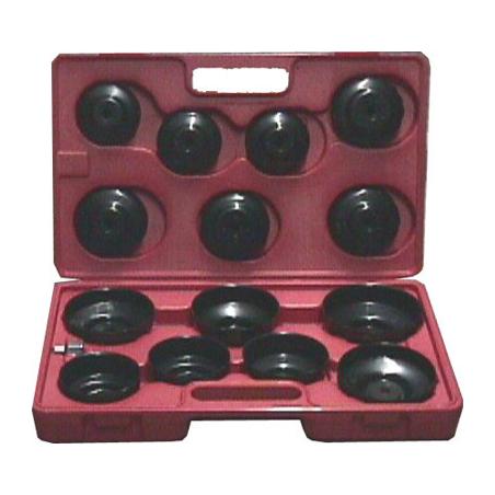 Set chiavi filtro olio a tazza 15 pz.